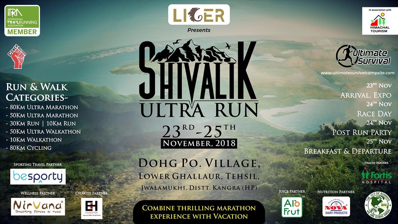 SHIVALIK ULTRA RUN, 23 - 25 November 2018, Dohg(Jajwar) village, Lower Ghallour, Jwalamukhi Tehsil, Kangra District, Himachal Pradesh